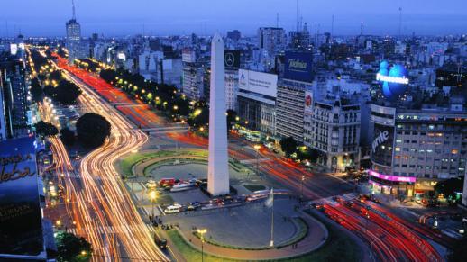 Avenida 9 de Julio, Buenos Aires, Argentina.med